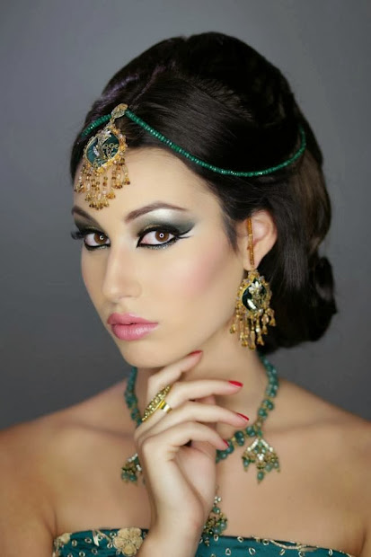 indian pakistani bridal makeup