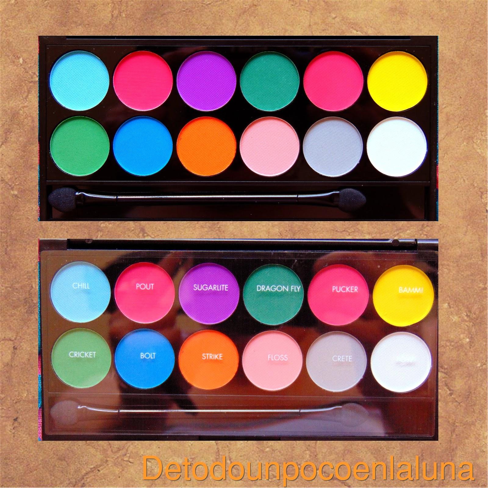 Paleta Ultra Mattes V.1 Brights de sleekmakeup