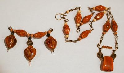Summer Color Surprise blog hop: ceramic, antique bronze, ooak pendant, ooak necklace :: All Pretty Things