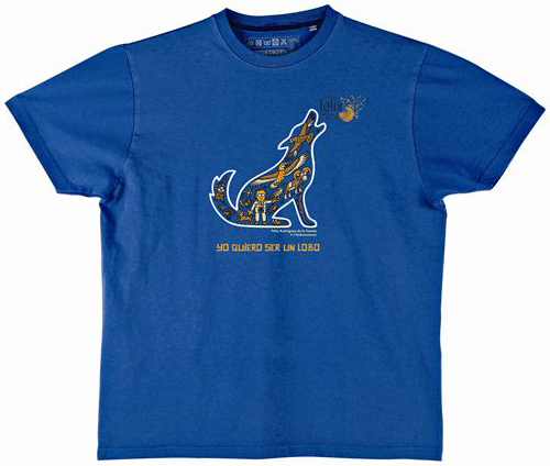 camiseta yo quiero ser un lobo kukuxumusu