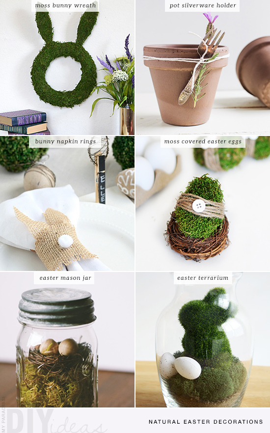 Diy natural easter decorations my paradissi