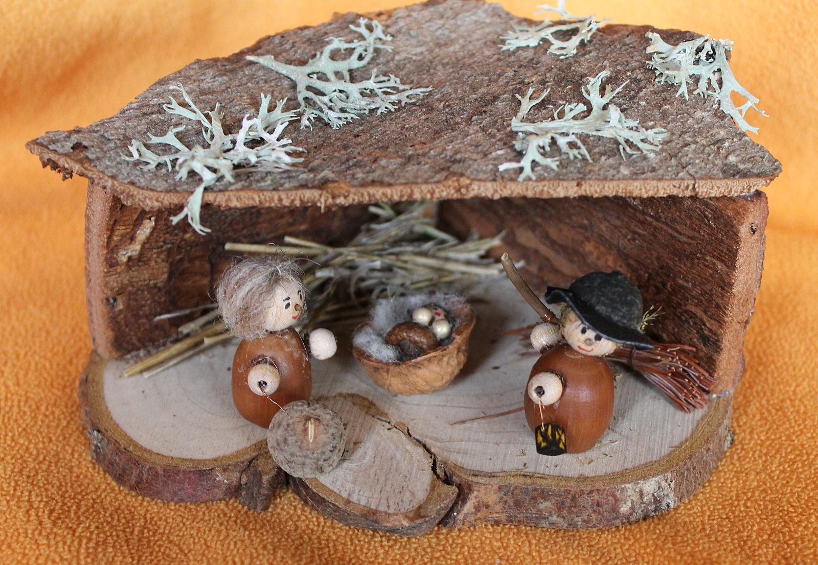 kreative kiste: krippe aus naturmaterialien basteln, Best garten ideen