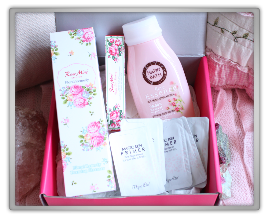겟잇뷰티박스 by 미미박스 memebox beautybox scentbox 1 rose unboxing review preview box look inside