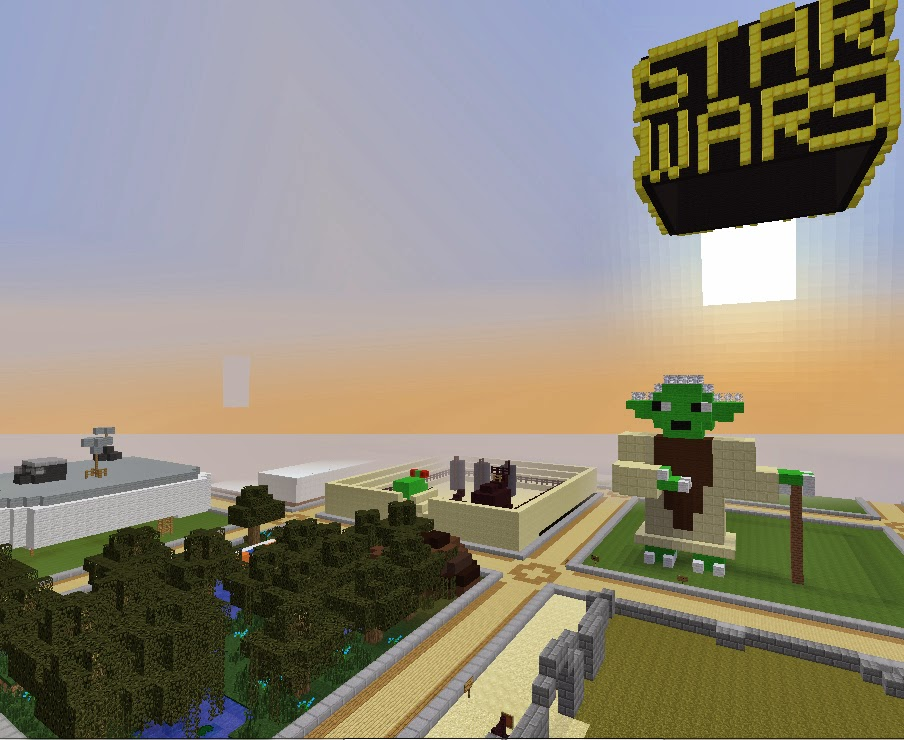 Star Wars: Yoda and Yoda's Swamp  on the Skrafty Minecraft Server by TrulyBratiful and CodyRocketLaunch