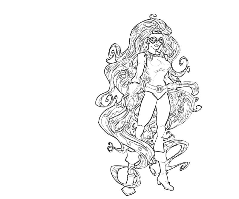 printable medusa skill coloring pages