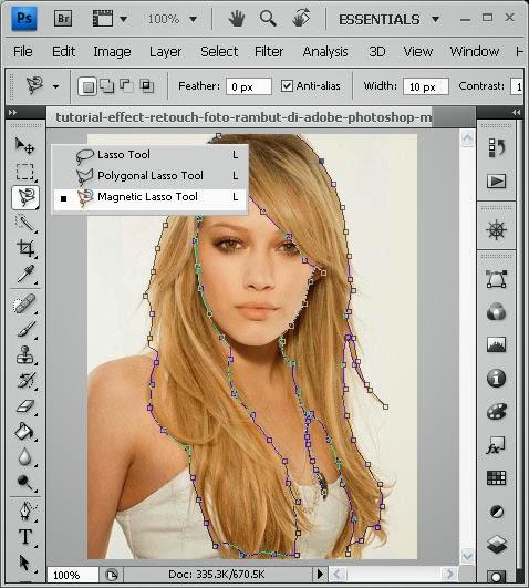 Foto Model Rambut Vektor