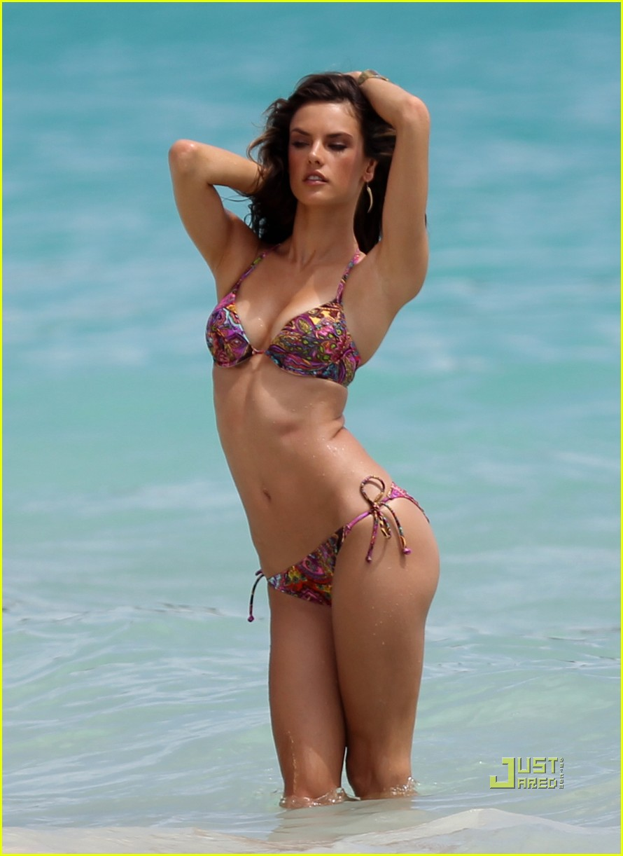 Alessandra Ambrosio in Bikini at the Beach in Tulum