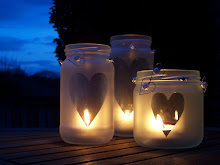 simple heart candle jars