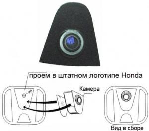 Фронтальная камера для HONDA в логотип