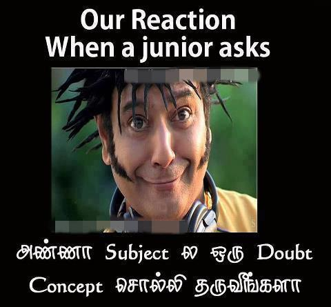 Tamil Funny Engineering college student's funny reactions ...