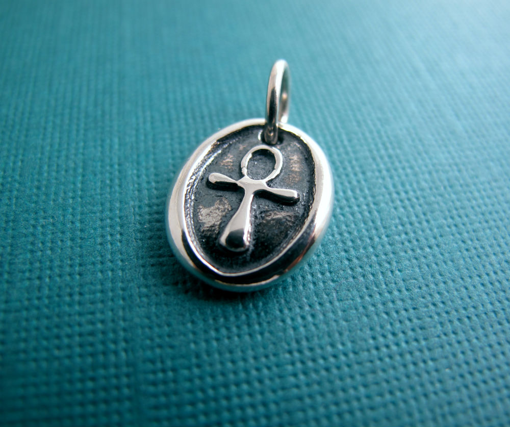 Sterling Silver Egyptian Ankh Charm by Beth Hemmila of Hint Jewelry