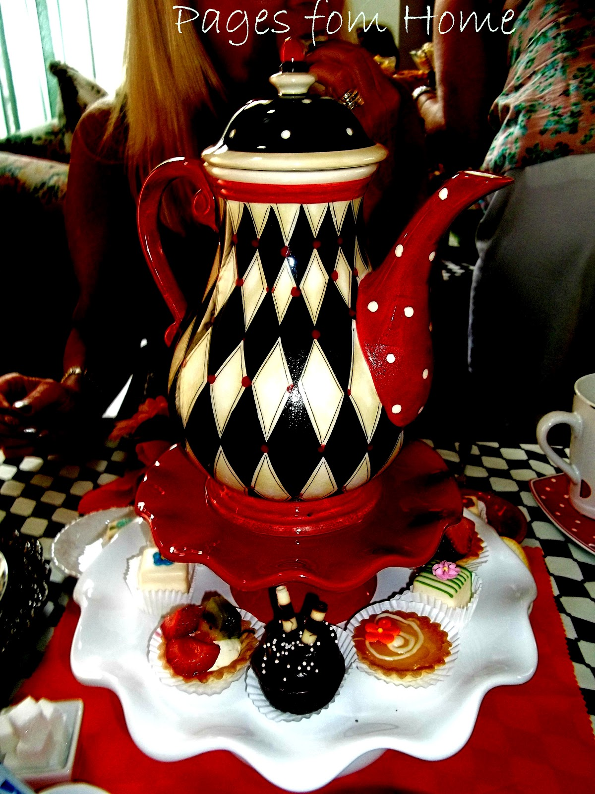 pages from home: mad hatter alice in wonderland bridal shower tea
