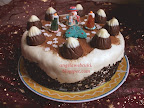 Kókuszos Mont Blanc torta, csokoládé pudingos, karácsonyi sütemény recept.
