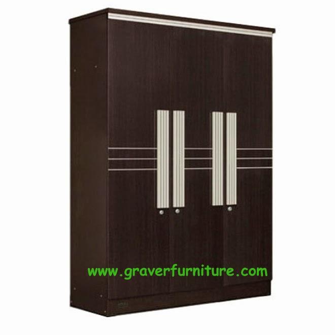 Lemari Pakaian 3 Pintu LP 9297 Popular Furniture