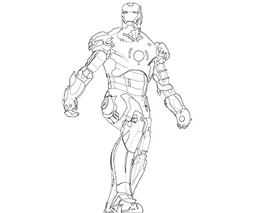 #16 Iron Man Coloring Page