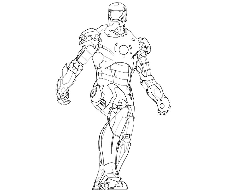 Coloring Book Pages Iron Man Printable Page Title
