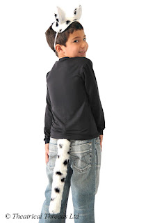 Dalmatian Dog Ears and Tail Kids Costume from Theatrical Threads Ltd