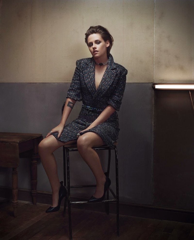 Kristen Stewart wears Chanel designs for Madame Figaro March 2015