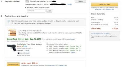 Buy a pitaol on Amazon.com. Do they do background checks?