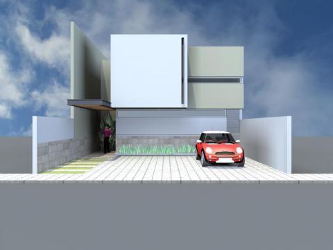 Fachadas minimalistas elegante dise o de casa con fachada for Diseno de fachadas minimalistas