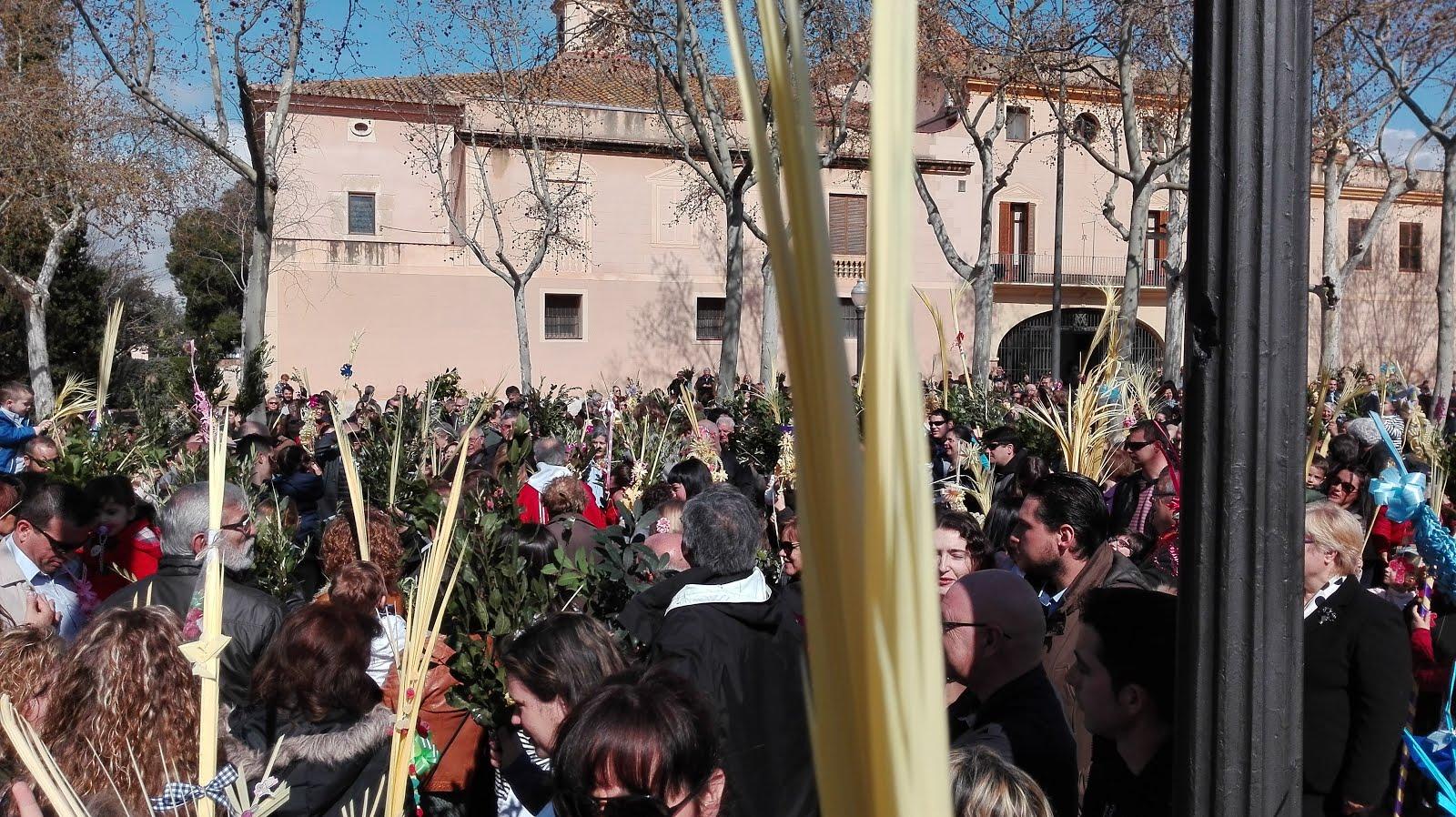 Benedicció de les Palmes i Rams al Santuari de Misericòrdia