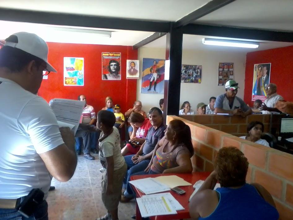 Asamblea de Voceros del C.F.G en Comunidad Alianza Bolivariana