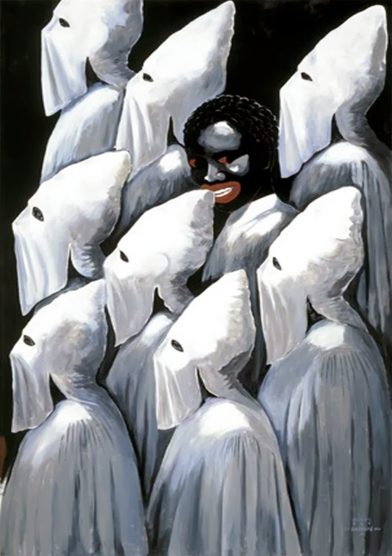 art now and then michael ray charles the dark side of the kkk