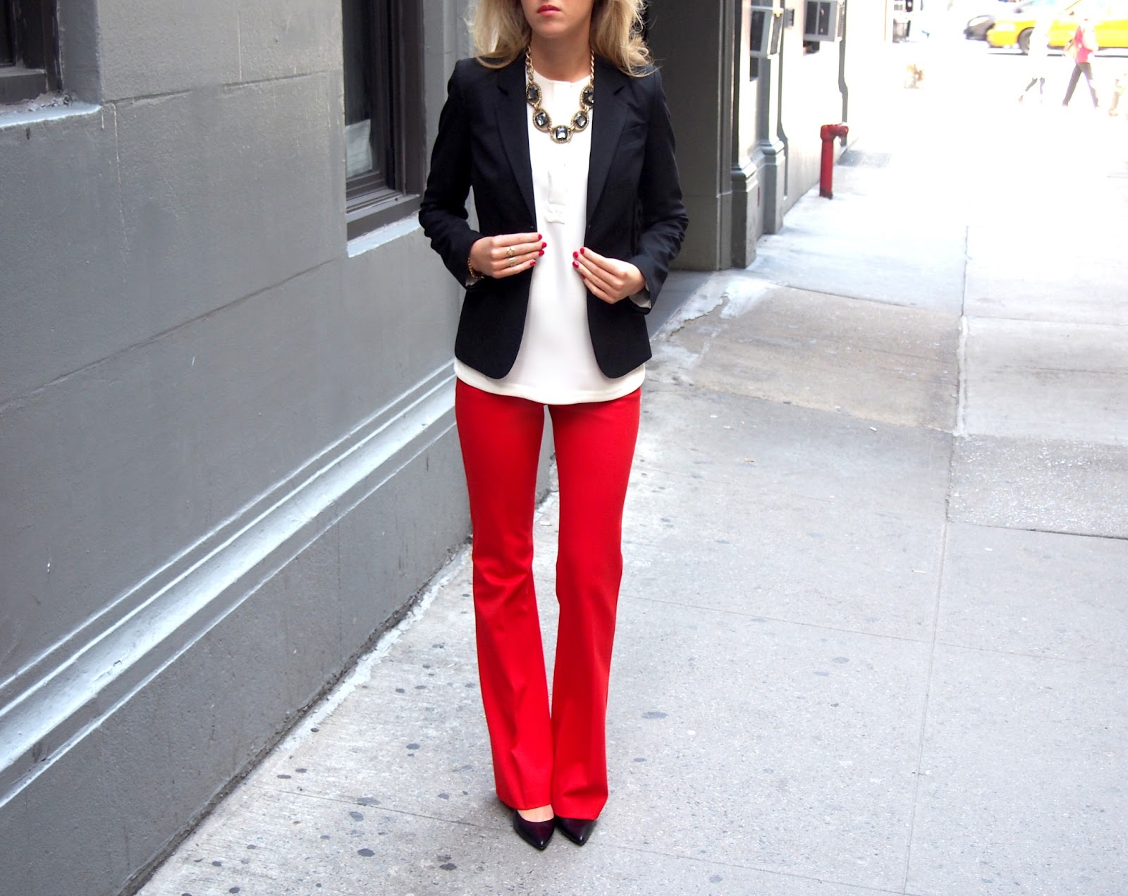 New  Suit WhiteRedBlackin Pant Suits From Women39s Clothing Amp Access