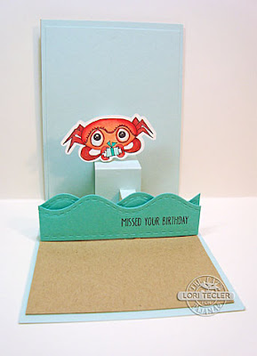 Oh Crab birthday card-designed by Lori Tecler/Inking Aloud-stamps and dies from The Cat's Pajamas