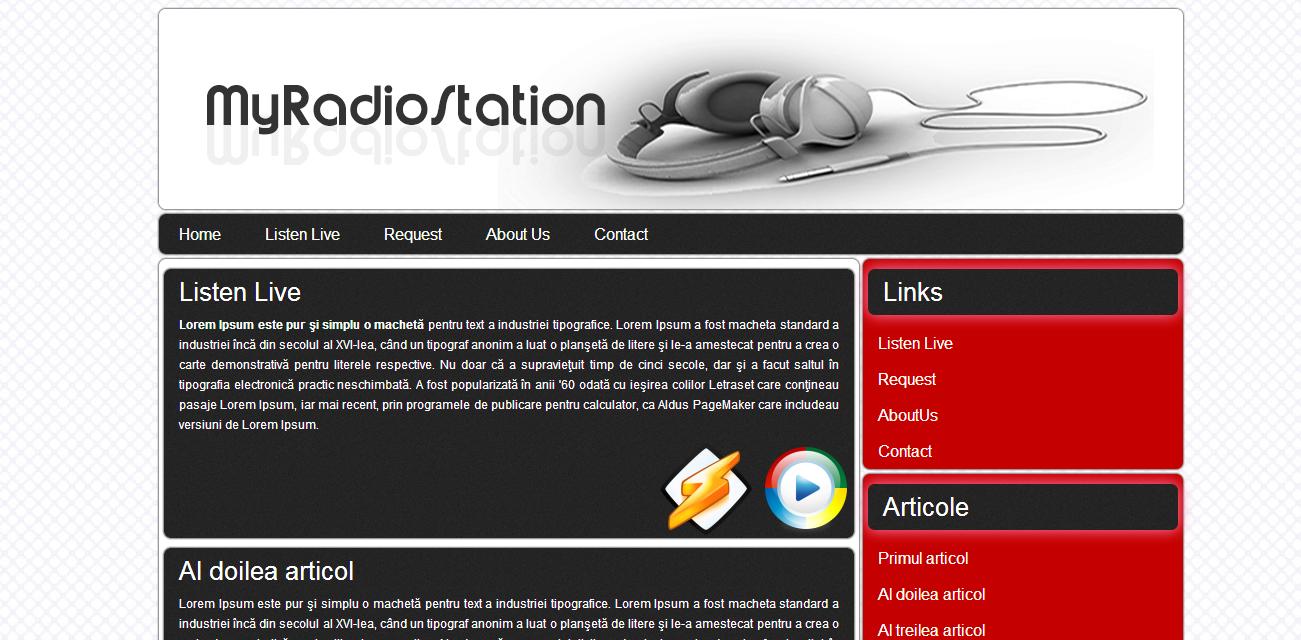 Template html 5 pentru site-uri de radio