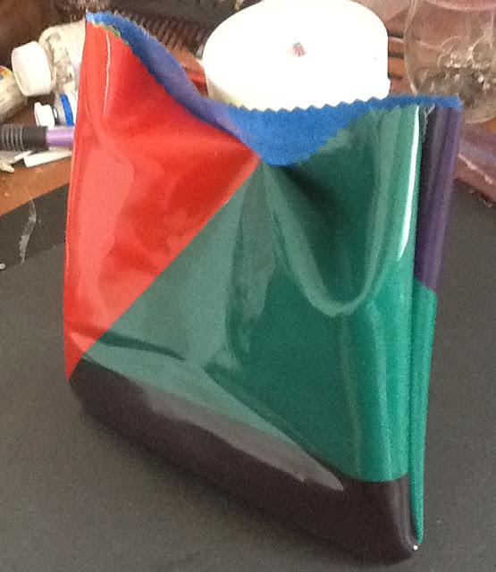 """Niki de Saint Phalle - """"Nanas"""" Inspired  Plastic Bag back view"""