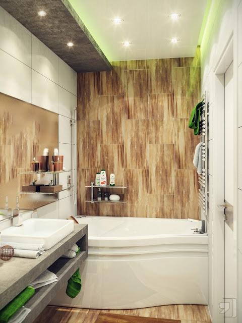 Mẫu phòng tắm Màu sắc trang nhã, nhẹ nhàng