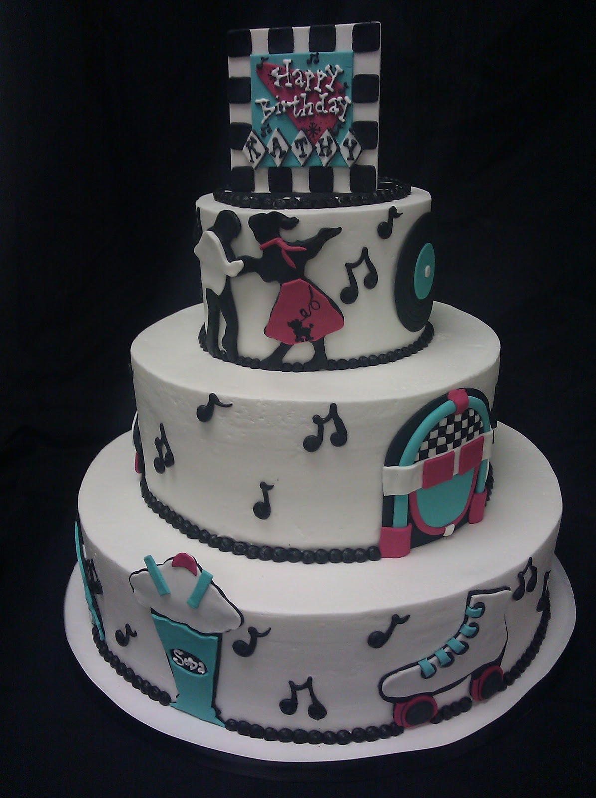 What s New at Cheri s...: 50 s Themed Birthday Cake