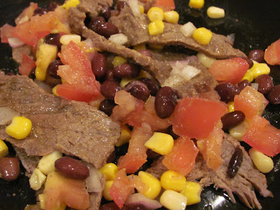 ... Choices: Grilled Flank Steak with Black Beans and Corn and Tomatoes
