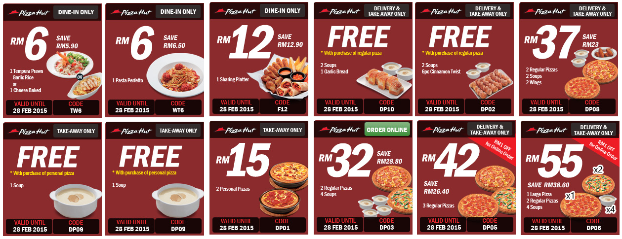 Discount coupons pizza hut india