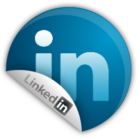 Linkedin logo by Clay Cauley