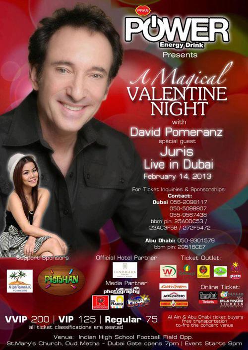 David Pomeranz, Air Supply, headline best Valentines concerts in Dubai