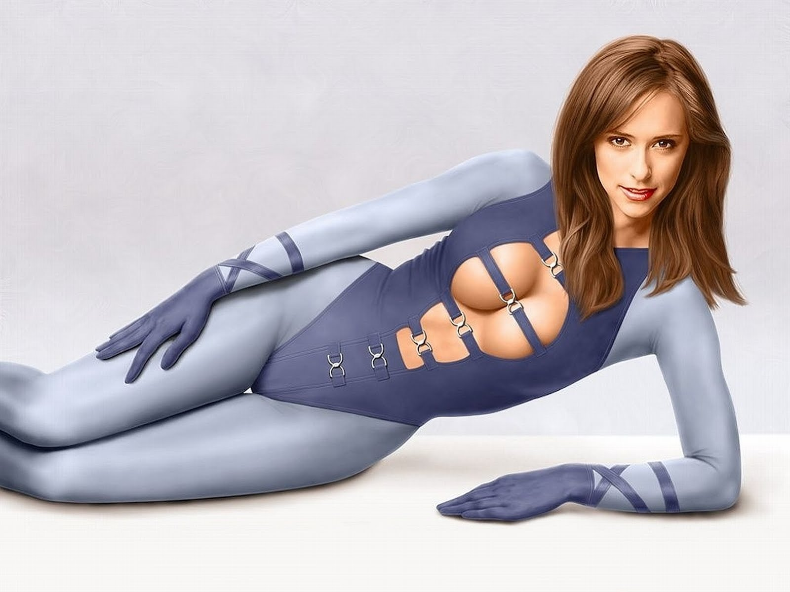 sexy blue ghost woman