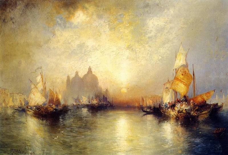 Thomas Moran - Entrance to the Grand Canal, Venice