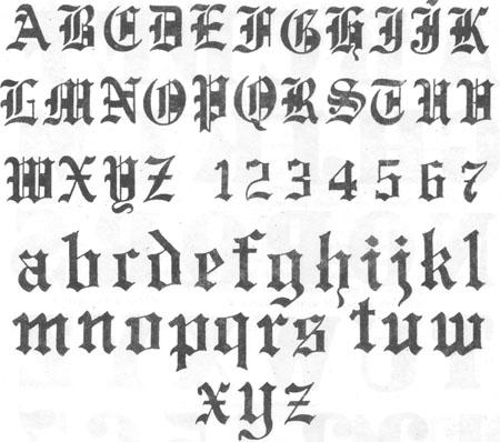 Abecedario En Letras Goticas