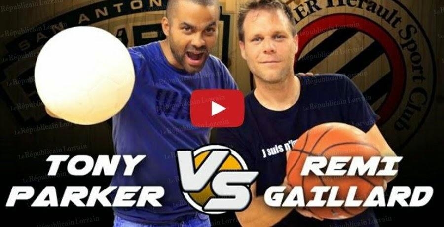 Tony Parker contre Rémi Gaillard