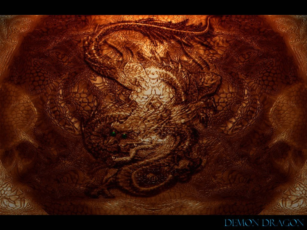 Demon Dragon Dark Gothic Wallpaper