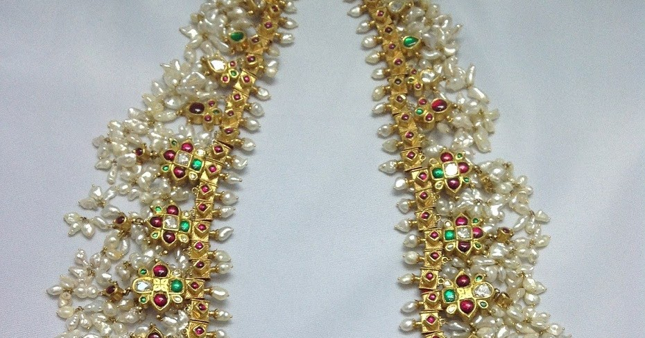 Antique Gotta Pusalu Long Necklace Designs From Boorugu