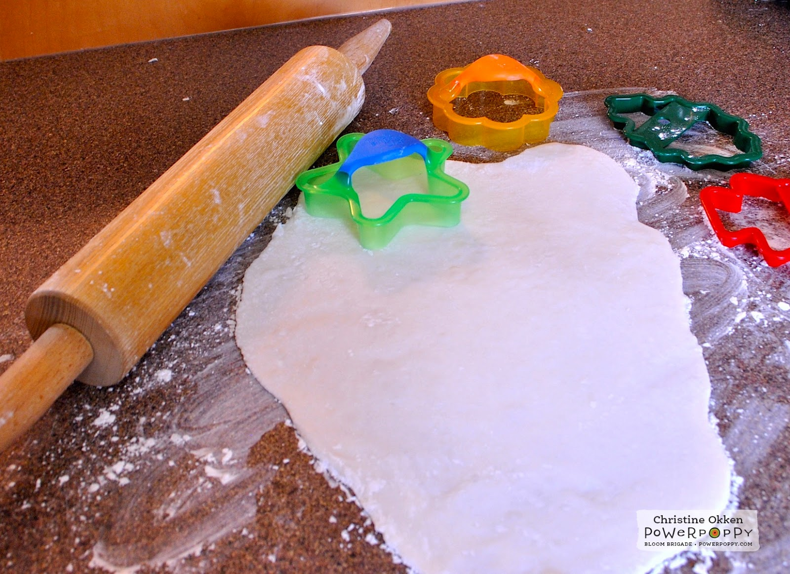 Rolling pin ornament - Getting Your Dough Thickness Even Throughout Really Helps Improve Your Finished Ornaments Then Use Cookie Cutters To Cut Out Ornament Shapes You Would