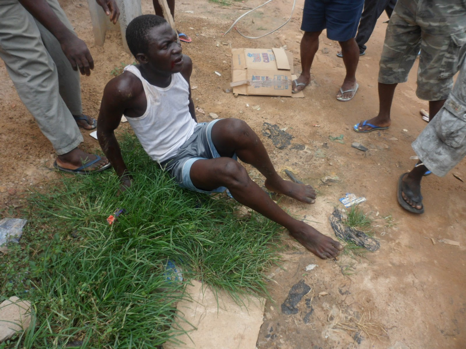 kidnappers burnt alive