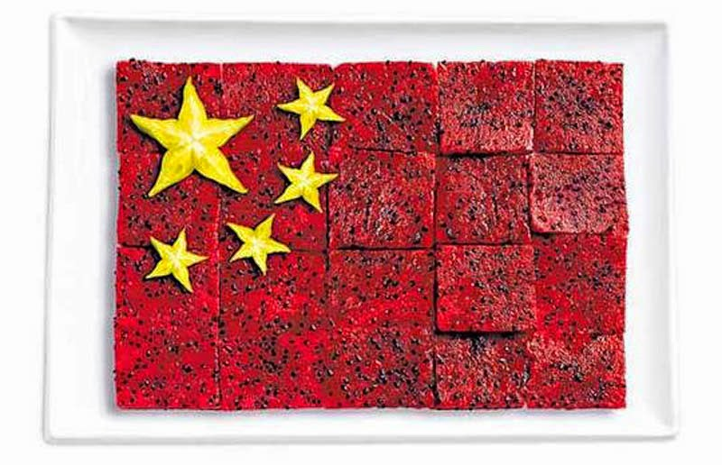 18 National Flags Made From Food - China