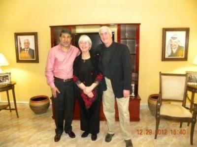 Embaixador da Palestina no Brasil recebe pais de Rachel Corrie