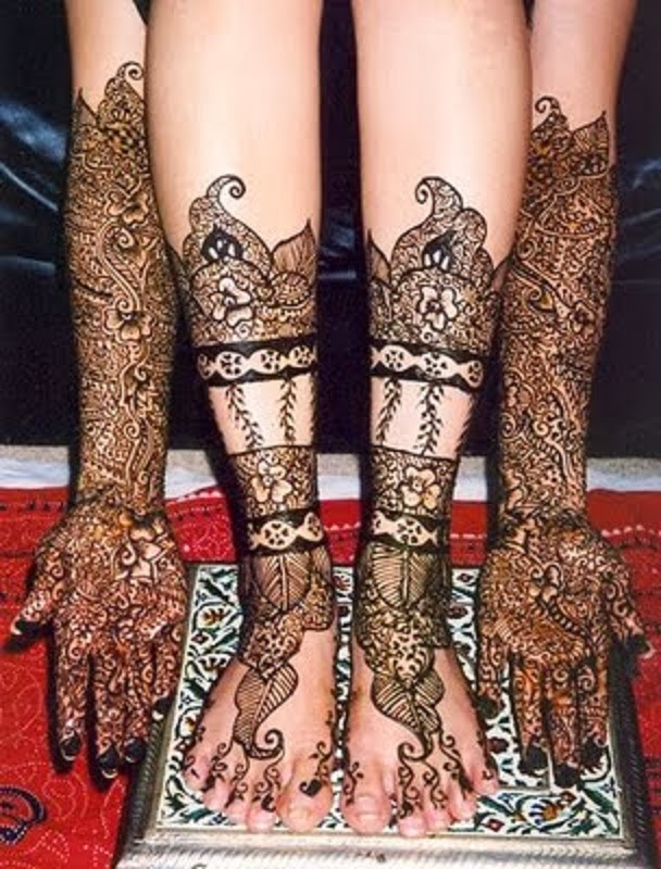 Mehndi Designs For Hands Amp Legs : Mehandi design for legs and hands pictures
