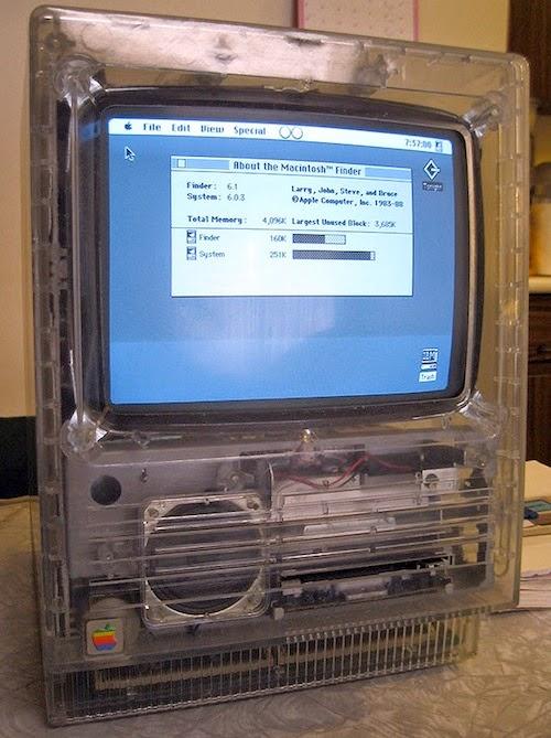 работа дисплея Macintosh SE