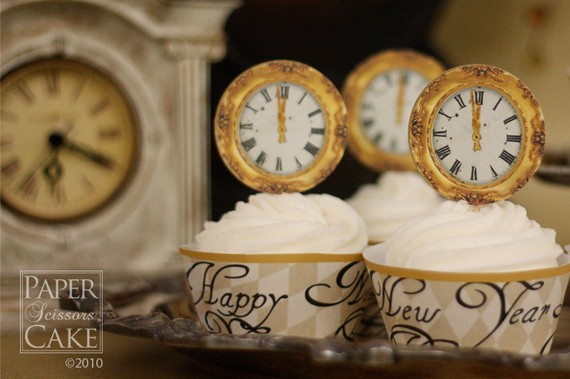 New Year Cupcakes Decoration Idea